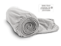 Photo: The BODYGUARD Jersey Fitted Sheet rolled up into a roll. The all-round elastic band is spirally at the head of the sheet roll facing the viewer.