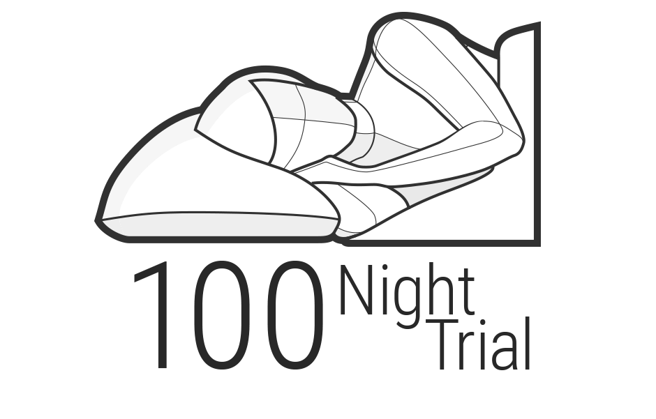 Illustration: The upper body of a person, lying on their side, their face to the viewer. Underneath: 100 Night Trail.