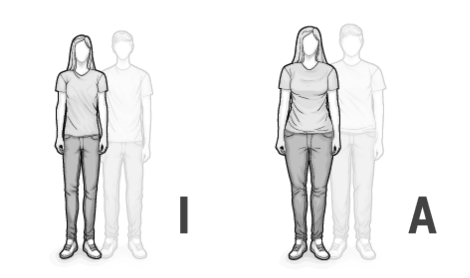 Illustration: Mixed types I and A: a thin and a corpulent man
