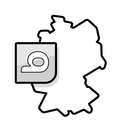 Illustration: Map of germany including a logo of bett1