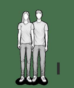 Illustration: Body type I: thin woman
