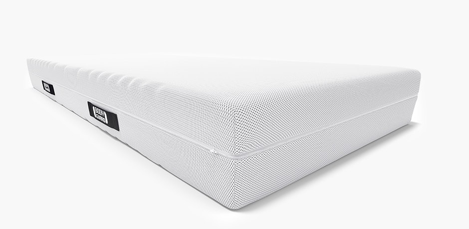 The available mattress sizes are visually highlighted in a table, sorted by different lengths.