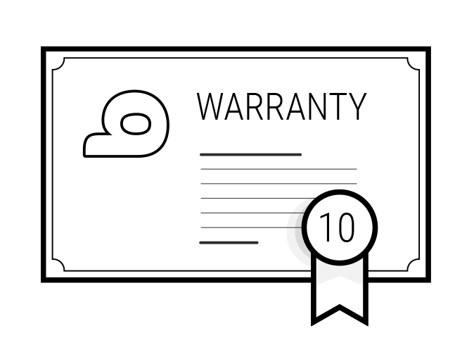 Illustration of a warranty certificate: It reads