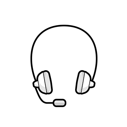 Illustration: Headset with microphone