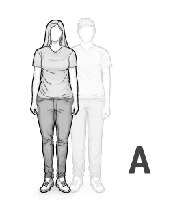 Illustration: Body type A: woman with curves