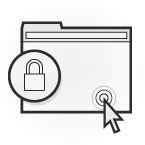 Illustration: a browser window with a padlock