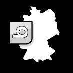 Illustration: eine Deutschlandkarte mit dem Logo von bett1.de