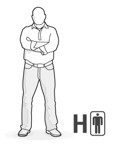 Illustration: Body type H: solid, strong man