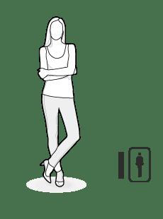 Illustration Körpertyp I: schlanke Frau