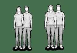 HEIA Typen für die H1 und H2 Matratze