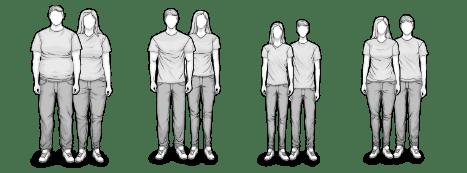 HEIA Typen für die H3 und H4 Matratze